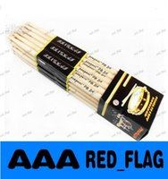 Wholesale Fashion A Pair Music Band Maple Wood Drum Sticks Drumsticks A A Oval shaped wooden LLFA713F