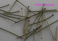 Wholesale OMH Jewelry accessories production tool mm bronze color metal Head pins Hot sale DY67