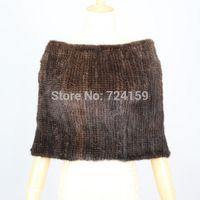 knitting fur scarf - new women knitted mink fur scarves real mink fur pashmina genuine mink fur poncho shawl