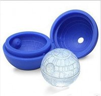 Wholesale Round Cocktails Ball Star Wars Death Star Silicone Mold Ice Cube Tray Chocolate Mould Bar Party Drink DIY DHL