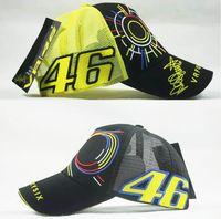 trucker hats - Summer yellow mesh VR Rossi cap hat moto gp motorcycle F1 baseball cap trucker cap hat
