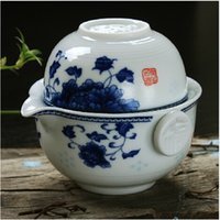 porcelain teapot white - TOP Tea set Include Pot Cup High quality elegant gaiwan Beautiful and easy teapot kettle Blue and white porcelain teapot gift