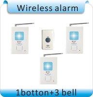Wholesale button bell Wireless doorbell blue led flashlihgt Low pressure alarm