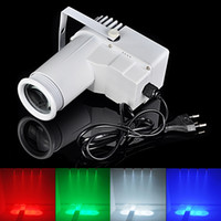 Wholesale 9WRGB Vac Pinspot LED RGB Full Color LED Spot Light Effect Lighting Beam Stage Light KTV DJ Club Party Lamp White Case