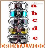 al por mayor goggles steampunk-motocicleta gafas de la Motocicleta Scooter Steampunk Cruiser Casco, Gafas, Gafas de mayorista en top venta de envío gratis