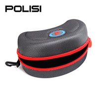 Wholesale Hot New POLISI Skiing Sport Snowboard Glasses Box Case Motorcycle Cycling Ski Goggles Sunglasses Zipper Box