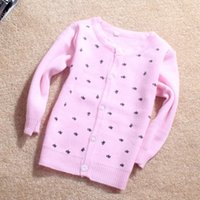 Wholesale New Style Cardigans Starry Bow Girl s Sweater Kids Clothes Kids Sweater Babywear iso A7