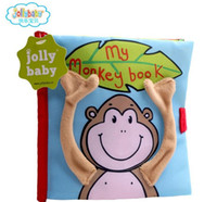 animal story books - 2016 Jollybaby Monkey Colorful English Soft Story Cloth Book Early Learning Education Cute Animals Book For Kids Infant Toys