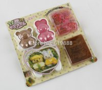 Wholesale Kawaii Dressed Up Doll Rice Cake Mould Set Sushi Rice Mold Seaweed Cutter Bento Set N1809