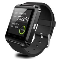Wholesale 1pcs Bluetooth Smartwatch U8 Watch Smart Watch Wrist Watches for iPhone S S Samsung S4 S5 Note Note HTC Android Phone Smartphones