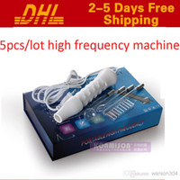 Wholesale 2015 New Portable High Frequency Facial Machine Acne Removal Skin Rejuvenation Facial Massager