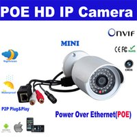 Wholesale 1 MP HD P Mini Network IR Bullet IP Camera Waterproof P2P Plug Play Outdoor ONVIF iPhone Android Mobile ViewIPCC B10N POE F1102B