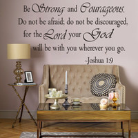 afraid quotes - Be Strong and Courageous Do Not Be Afraid Joshua religious Wall Quotes Arts Wall Decal Sticker Quote Home Decoration Decor