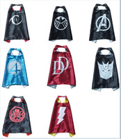 avengers logo - Double layer The Avengers capes party favors customize logo Cat Woman Fantasitic Four Hydra Shazam Daredevil Decepticons superhero
