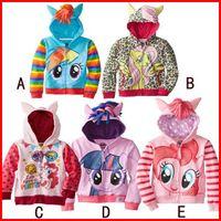 baby discounts - 10 Discount Free Ship New Baby Girls My little pony Angel wings Children long sleeve cartoon fleece cotton zipper hooded Outwear Sweatshirt