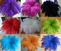 Wholesale 50pcs Ostrich Feather High Quality Cheap Feathers Hats and Wedding Decorate Many color Choose Natural Feathers For cm inches