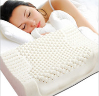 Wholesale Contour Massage Natural Latex Pillow for Adult With Velvet Outer Cervical Health Care Pillow cm