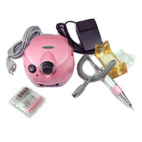 Wholesale NEW Professional Electric Nail Drill Pink Electric File for Nail Art Manicure Pedicure Dropshipping Retail SKU E0001