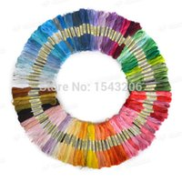 Wholesale The Unique Style Anchor Cross Stitch Cotton Embroidery Thread Floss Sewing Skeins Craft Dofferent Colors