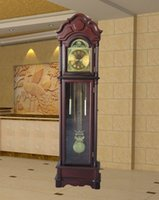 antique wood floors - Antique solid wood floor clock quartz milord clock high glass wooden grandfather clock with westminster Chime