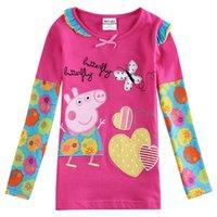 kids cartoon clothing - Kids T shirts Girls T shirt New Cartoon Childrens Clothing Baby T shirts Cartoon Nova Kids Tops F5728Y
