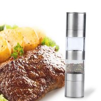 Wholesale 2 in Manual Stainless Steel Kitchen Salt and Pepper Mill Grinder Muller PTSP