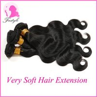 Cheap Great Malaysian Virgin Human Hair Weaves Natural Black Body Wave Can Be Dyed and Bleached 4PC Real Human Hair Extensions