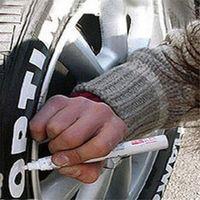 Wholesale Car Motorcycle Tyre Tire Tread Marker Paint Pen White Rubber Paint Marker Pen Waterproof Motorcycles Tools ho678197