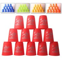 Wholesale Magic flying cup Speed Flying Stack Pack Sport Cup set sport Stacking Game Prop Educational Toys
