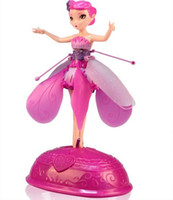 Wholesale New year toy Flying Fairy Flying Sunbeam Fairy Mick Flower Fairy Controlled Infrared Induction pink English box Remote Control Line Beauty