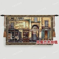 Wholesale New European elegance Afternoon old Street Art tapestry hot selling fashion tapestry fabric soft