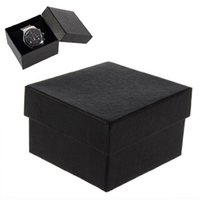 Wholesale Present Gift Boxes Case with foam pad inside For Bangle Ring Earrings Wrist Watch Box Black