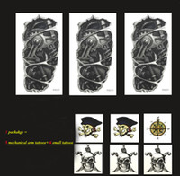 Wholesale New tattoo stickers Temporary Tattoos Waterproof Male Mechanical Arm Totem Suit Fake Tattoos