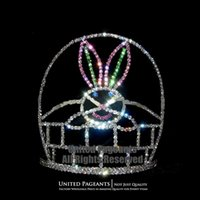 easter baskets - Bunny Basket Crowns Easter Pageant Tiara Rhinestones Headpieces UC363