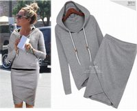 Cheap Women baseball jacket casual sweat skirt suits sport sweatshirt shorts tracksuits animal hoodies dress suit WF-9026