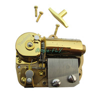 music box movements - 30 Note Windup Clockwork Musical Gold Movement Mechanism Screws Key for DIY Gift Music Box Castle In The Sky