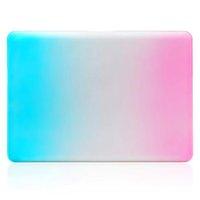 Wholesale Hard PC Laptop Case for MacBook Pro Inch Dustproof Waterproof Slip Fashional Case for MacBook Pro Rainbow