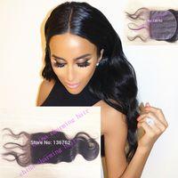 Cheap Brazilian Hair silk closure human hair Best Natural Color Body Wave brazilian silk base closure