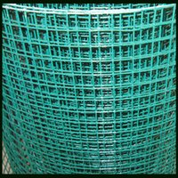 Wholesale Light Green Powder Coated Welded Mesh mm Wire Diameter Before Coated and mm After Coated