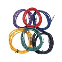 Wholesale High Quality m ft Guitar Bass Amplifier Cable Professional Instrument Cable Patch Head mm Jack Plug I1147