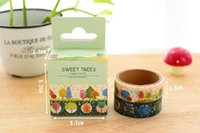 Wholesale Tang Mei was boxed tape watercolor trees and paper tape tape diy album Diary