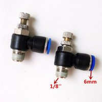 Wholesale 10pcs Pneumatic Air Fitting Throttle valve Air Speed Control SL6 mm1