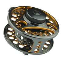 Wholesale Double colored SLA7 Aluminum Alloy Machine Cut Fly Fishing Reels Large Arbor Spool Width mm Fly Reels