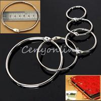 Wholesale 10pcs Metal Split Rings Ring Binder in Hinged Split Design for Home for Office Scrapbook Crafts Albums Binding book ring order lt no tra
