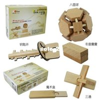 Wholesale NEW Magic wooden ancient Ming key Five piece a psck baby wooden toys of learning education and Infant teaching aids