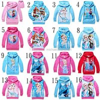 long sleeve yellow t-shirts - 2015 new spring and autumn Frozen Child Boys Hooded Long Sleeve children Hoodies cartoon top kids t shirts baby hoody coat two colors T