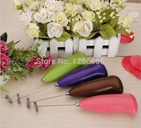 Wholesale 200pcs Multicolour portable hand held Mini Electronic Kitchen milk egg food Mixer Blender stir tools