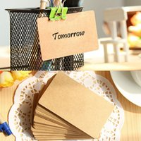 Wholesale 100Pcs Vintage Kraft Paper Card Message Memo Wedding Party Greeting Card Gift Thank You Cards