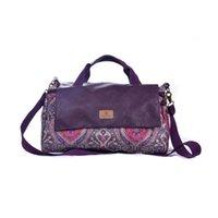 doctor bag - Top New Design Embossed Weekender Travel Bag for Women Blooms Messenger Shoulder Bags Canvas Handbag Duffle Large High Capacity Totes
