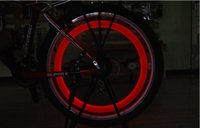 Wheel Lights bicycle wheel spokes - New Fashion Hot Bike Bicycle LED Lights Motorcycle Electric car Wheels Spokes Lamp Silicone colors flash alarm light cycle accessories